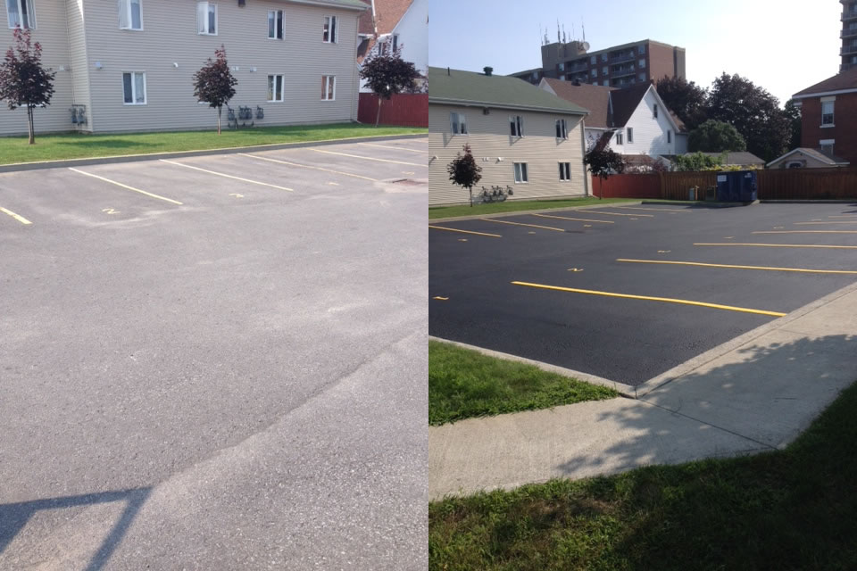 Sealing Parking Lot And Adding LInes & Numbers