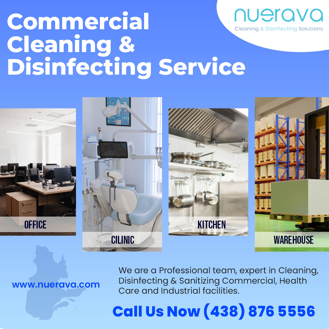 Commercial Cleaning & Disinfection service Montreal